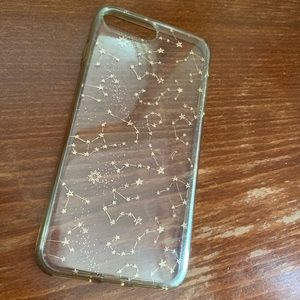 Clear constellation Iphone 8plus case